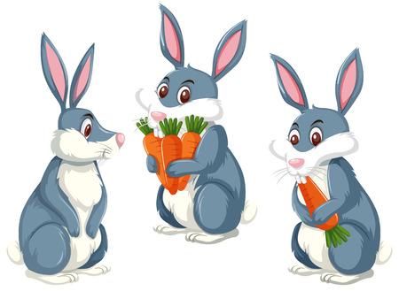 Ilustración de A rabbit on white background illustration - Imagen libre de derechos