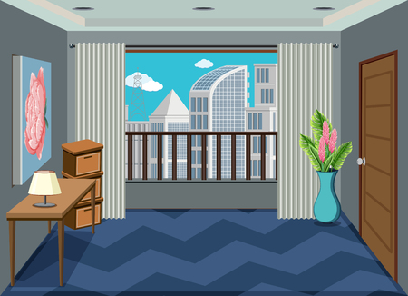 Illustration pour An interior of apartment room illustration - image libre de droit