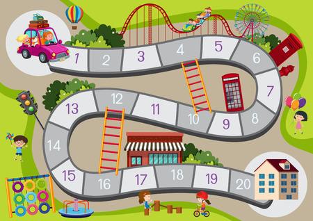 Illustration pour A board game template illustration - image libre de droit