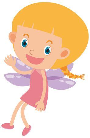 Ilustración de Single character of cute fairy on white background illustration - Imagen libre de derechos