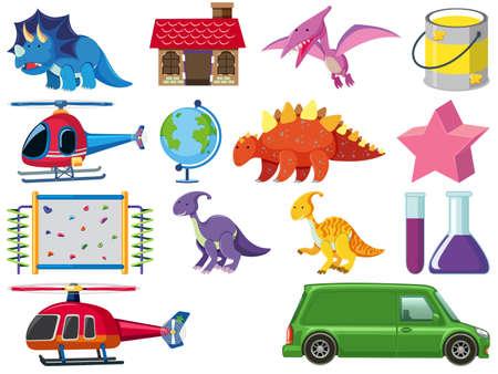 Foto de Set of children toys illustration - Imagen libre de derechos