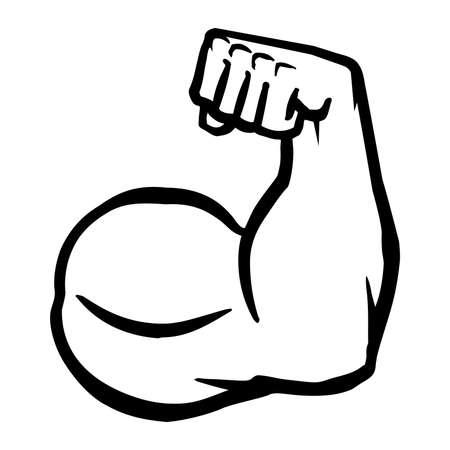 Biceps Flex Arm Vector Icon