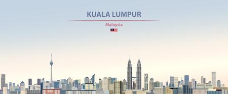 Illustration pour illustration of the city skyline of Kuala Lumpur - image libre de droit