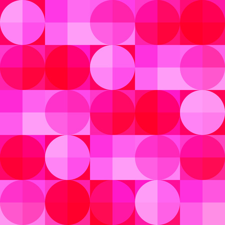 Pink geometric seamless pattern for your design. Vector illustration.