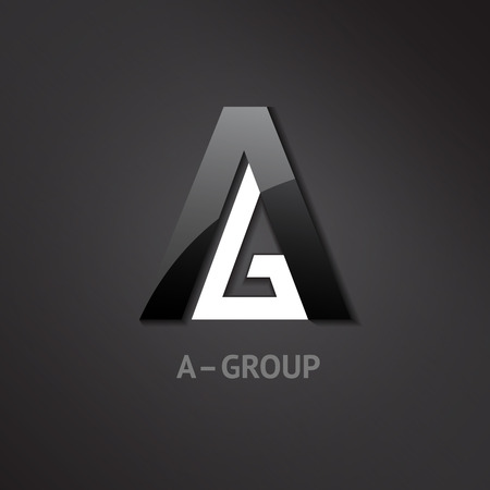 A-G letters logo. Symbol for groups companies. Vector illustration.