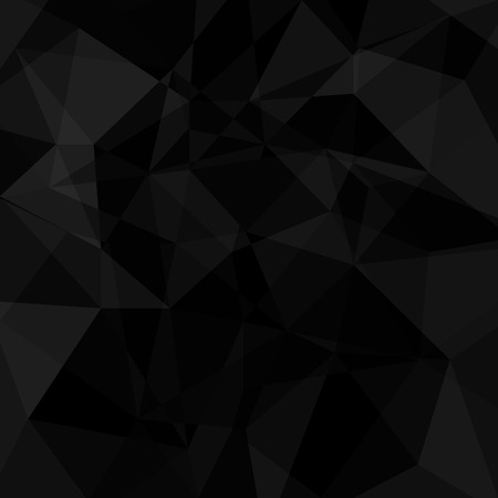 Illustration for Black geometric triangle background. Vector abstract illustration. - Royalty Free Image