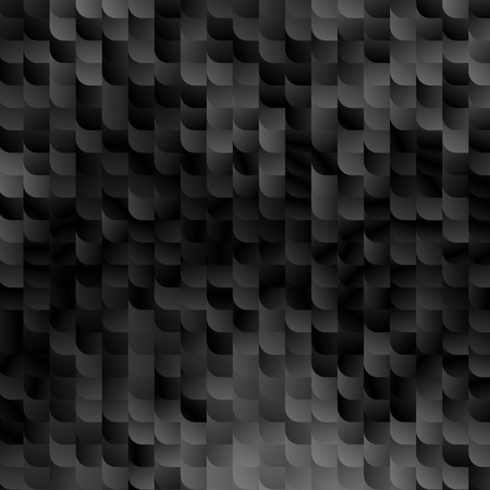 Black Marble Abstract Background. Vector Mosaic Pattern. Random Geometric Teals Shapes.