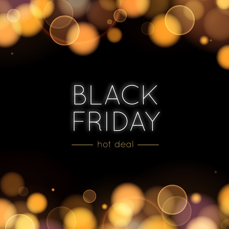 Black Friday Sale Vector Background Gold Bokeh And Lights