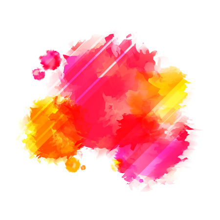 Illustration pour Bright Red and Yellow Paint Splashes. Indian Holi Festival Background. - image libre de droit