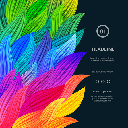 Vektor für Awesome Bright Colorful Borders. Vector Gradient Background. Vibrant Rainbow Splash. Abstract Texture for Posters, Cards, Screen Wallpapers etc. - Lizenzfreies Bild