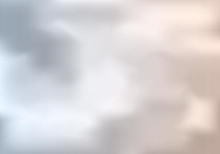 Illustration pour Cloudy Weather Abstract Background. Vector Gray Sky Illustration - image libre de droit