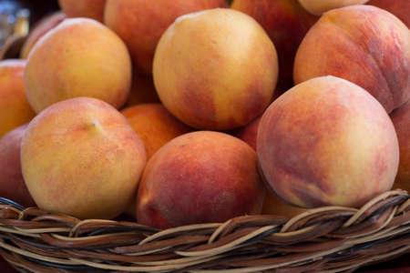 Fresh Peaches From the Farm in a Basket