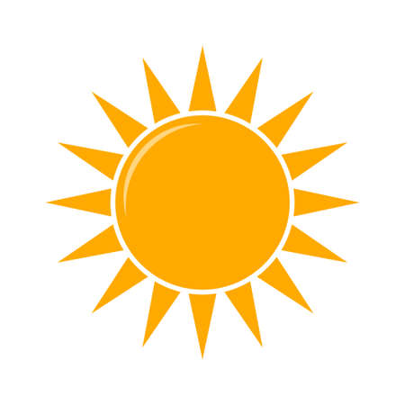 Illustration for Weather forecast icon, vector. Sunny weather vector illustration - Royalty Free Image