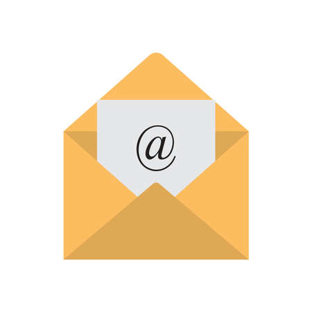 Illustration pour Email icon. Mail envelope vector icon isolated on white background - image libre de droit