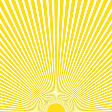 Illustration pour Abstract yellow sun rays background - image libre de droit
