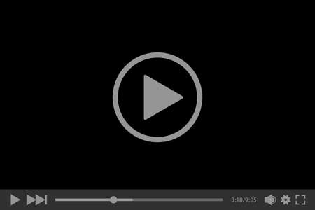 Illustration pour Video player for web, vector illustration - image libre de droit