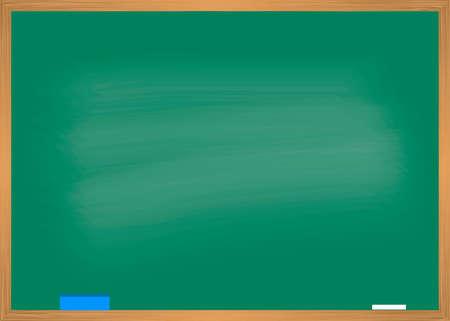 Illustration pour School blackboard with wooden frame. Vector illustration - image libre de droit