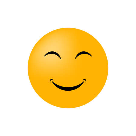 Illustration for Emoticon face isolated on white background. Vector icon - Royalty Free Image