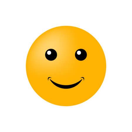 Ilustración de Emoticon face isolated on white background. Vector icon - Imagen libre de derechos