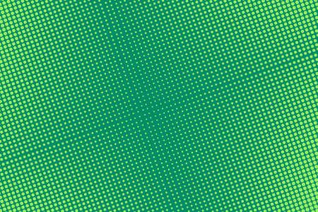 Ilustración de Pop art pattern with halftone. Comic dotted background. Green half tone print. Retro texture with bubbles. Cartoon splash effect. Vector illustration. Geometric modern duotone wallpaper. - Imagen libre de derechos