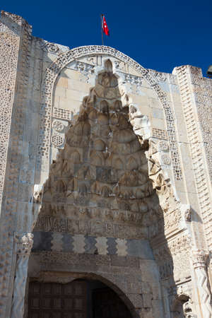 Entrance of the caravanserai in Sultan Han