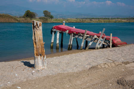 Lonely gangway on the Manavgat River