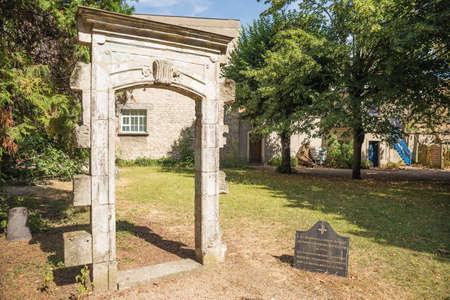 Editorial: PARIS, ILE DE FRANCE, FRANCE, August 04, 2018 - Remnants of the chapel at the Picpus cemetery where the inventory of the belongings was made of the decapitated citizens