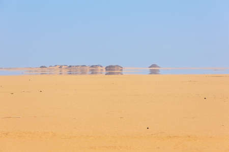 Photo for Looking at a mirage in the desert between Abu Simbel and Aswan - Royalty Free Image