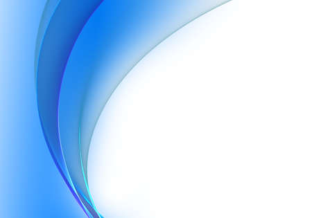Foto de Abstract background waves. White and azure blue abstract background for wallpaper or business card - Imagen libre de derechos