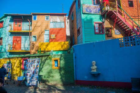 La Boca colorful houses neighborhood, Buenos Aires, Argentina.