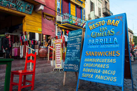 La Boca colorful neighborhood , Buenos Aires, Argentina