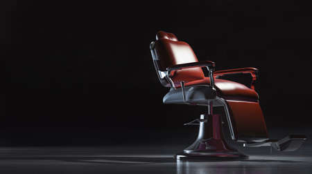 Foto per Barber shop chair in industrial space. - Immagine Royalty Free