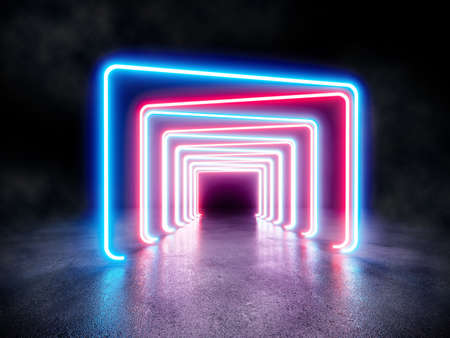 Foto de Neon background. Electronic light night background concept. - Imagen libre de derechos
