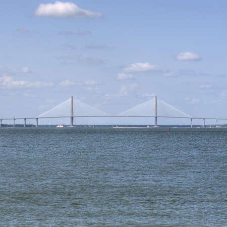 Ocean Landscape with Ravenal Bridge in Charleston, SC USA