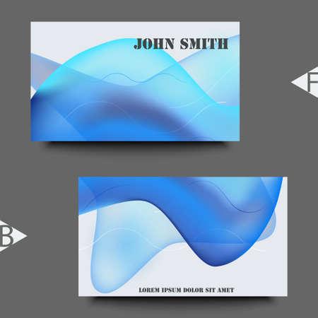 Illustration pour Colorful geometric background design. Fluid shapes composition with trendy gradients. Business card template. Eps10 Vector illustration - image libre de droit