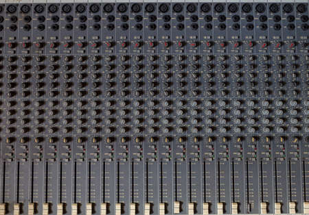 Foto per analogic mixer Panel with more cursor used to create music. - Immagine Royalty Free
