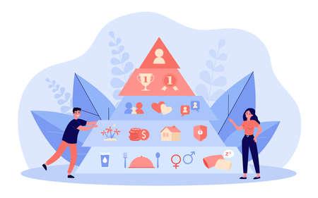 Illustration pour Hierarchy pyramid concept - image libre de droit