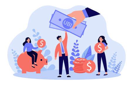 Illustration pour Successful people getting benefits - image libre de droit