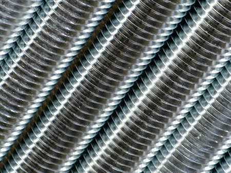 Close up of screw thread