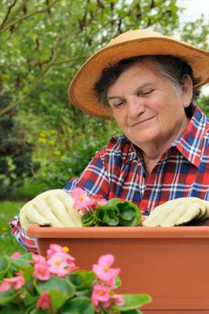 Senior woman - gardening