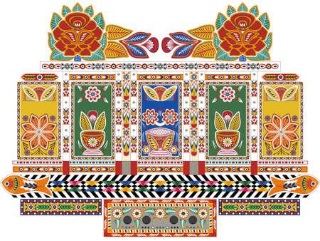 Illustration pour Indian Truck - image libre de droit