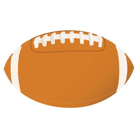Vector illustration of a football