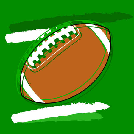 Concept illustration showing a stylized American football