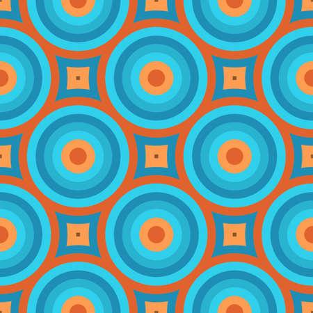 Foto de Geometric Vintage Retro Wallpaper Seamless Pattern Illustration - Imagen libre de derechos