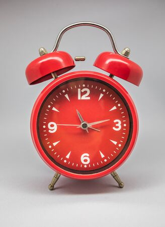 Photo pour A clock and retro alarm clock, old model known for its sound. - image libre de droit