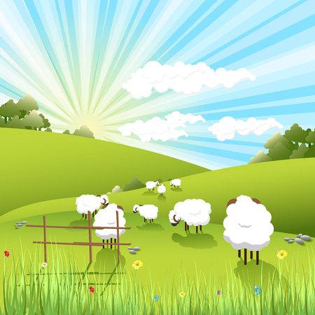 Illustration pour sheeps - image libre de droit