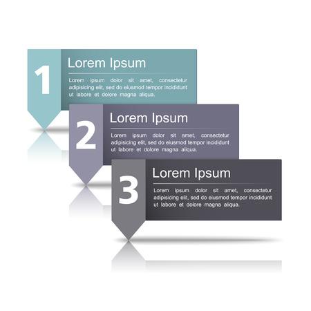 Design template wth three elements