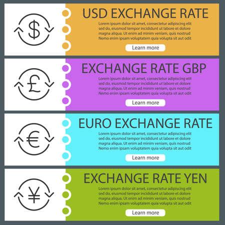 Currencies Exchange Rate Web Banner
