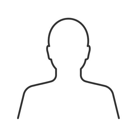 Ilustración de User linear icon. Human head. Thin line illustration. Profile contour symbol. Vector isolated outline drawing - Imagen libre de derechos