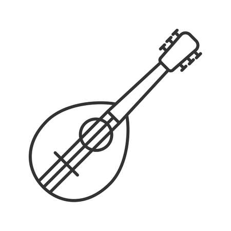 Mandolin linear icon. Thin line illustration. Contour symbol. Vector isolated outline drawing